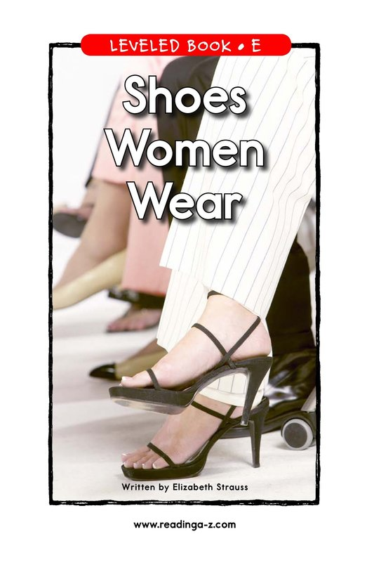 Book Preview For Shoes Women Wear Page 1