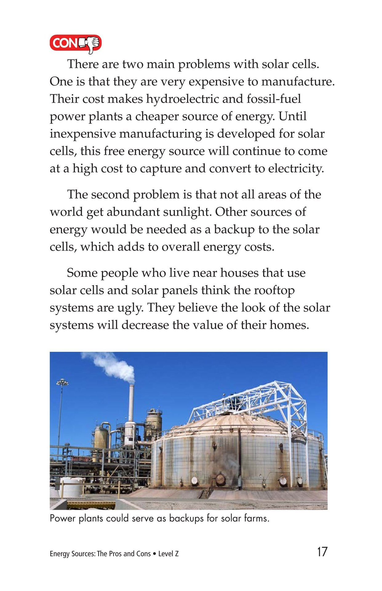 Book Preview For Energy Sources: The Pros and Cons Page 17