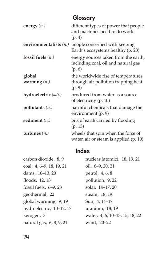 Book Preview For Energy Sources: The Pros and Cons Page 24