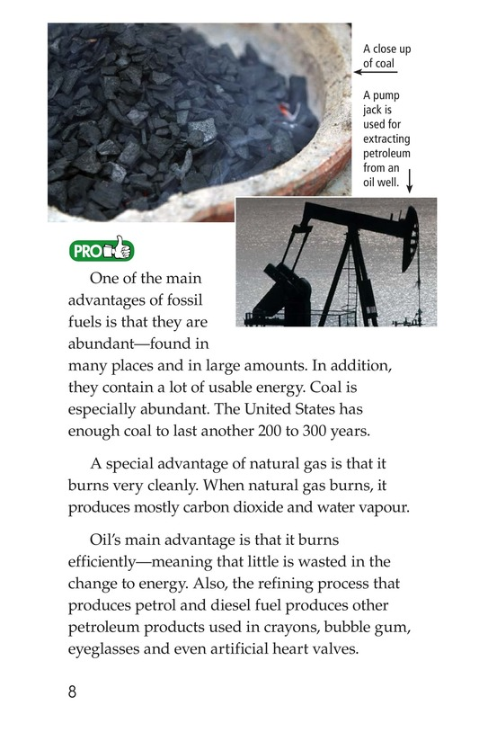 Book Preview For Energy Sources: The Pros and Cons Page 8