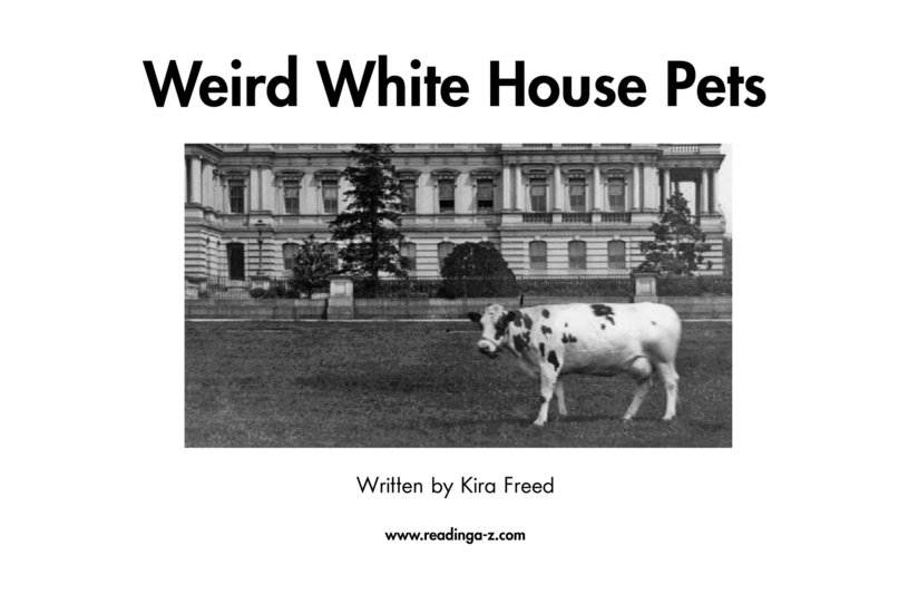 Book Preview For Weird White House Pets Page 2