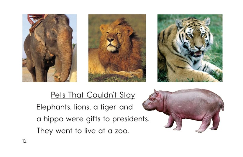 Book Preview For Weird White House Pets Page 12