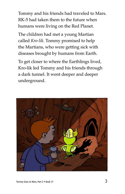 Book Preview For Tommy Goes to Mars (Part 2) Page 3