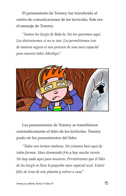 Book Preview For Tommy Goes to Mars (Part 2) Page 15