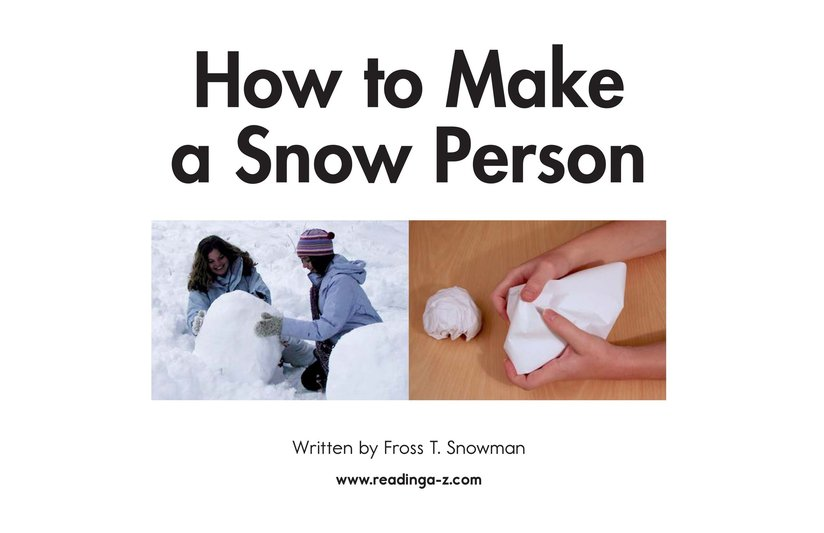 Book Preview For How to Make a Snow Person Page 2