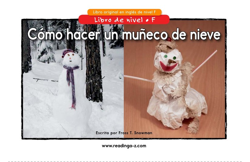 Book Preview For How to Make a Snow Person Page 1