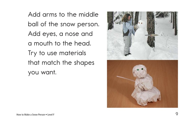 Book Preview For How to Make a Snow Person Page 9