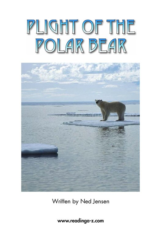 Book Preview For Plight of the Polar Bear Page 2
