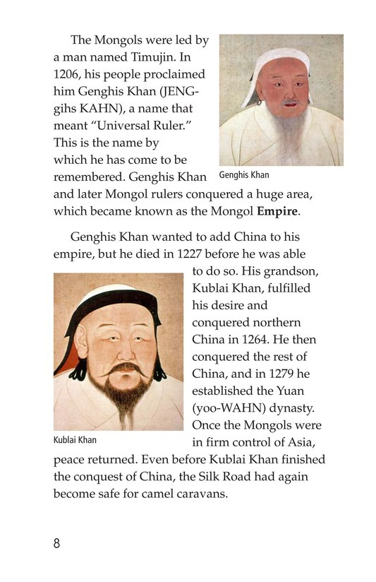 Book Preview For Marco Polo and the Silk Road Page 8