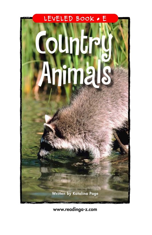 Book Preview For Country Animals Page 1